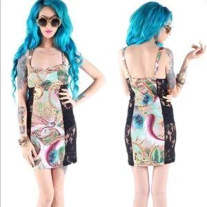 IF lace panel dress